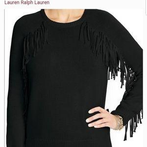 Lauren Ralph Lauren Western Fringe Sweater